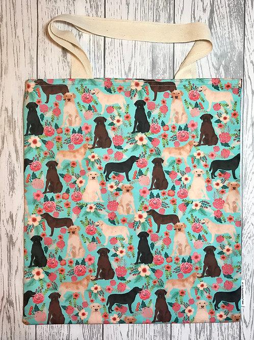 Floral Labrador- Bag for Life