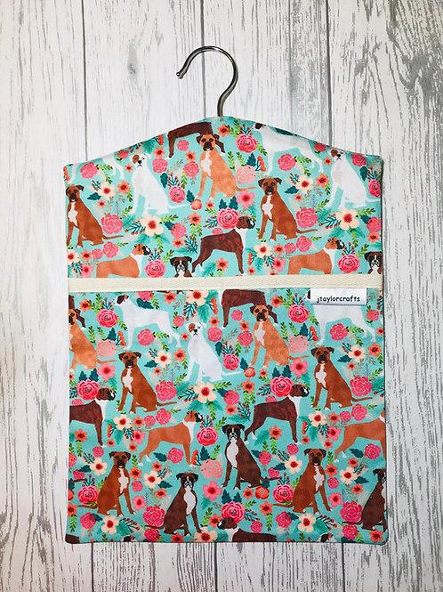 Boxer Dog Floral Peg Bag