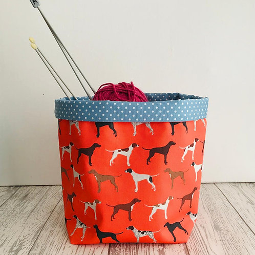 Orange Pointer Storage Basket