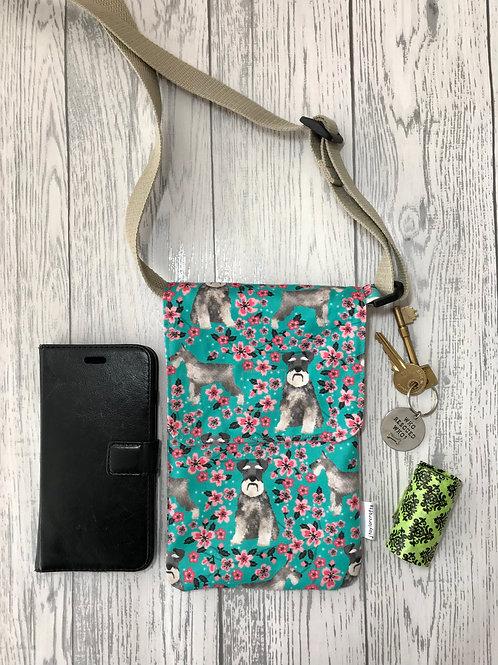Floral Schnauzer Handy Shoulder Bag