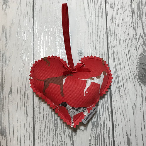 Red Pointer Fabric Decorative Heart