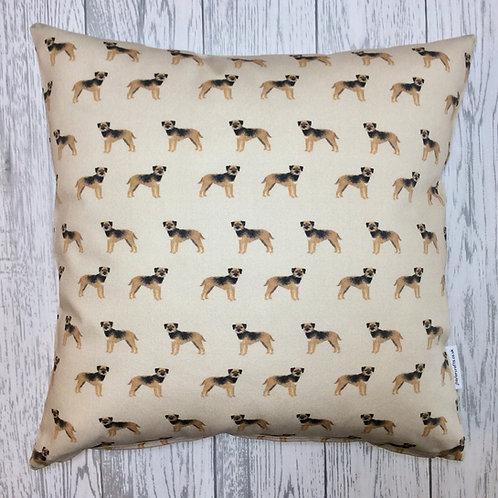 Border Terrier Tan Cushion Cover