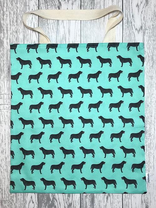 Black Labrador - Green Bag for Life