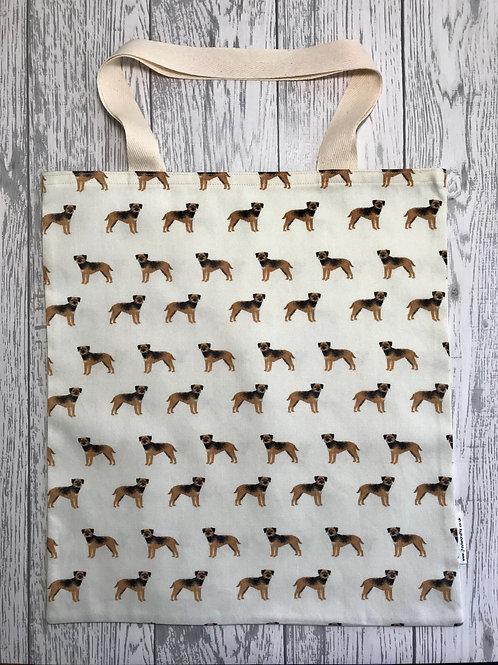 Border Terrier Cream Dog Print - Bag for Life