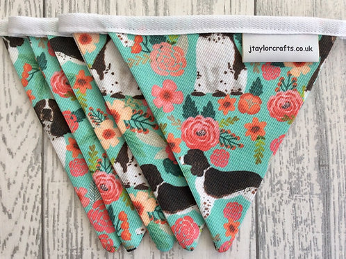 Springer Spaniel Dog Print Bunting