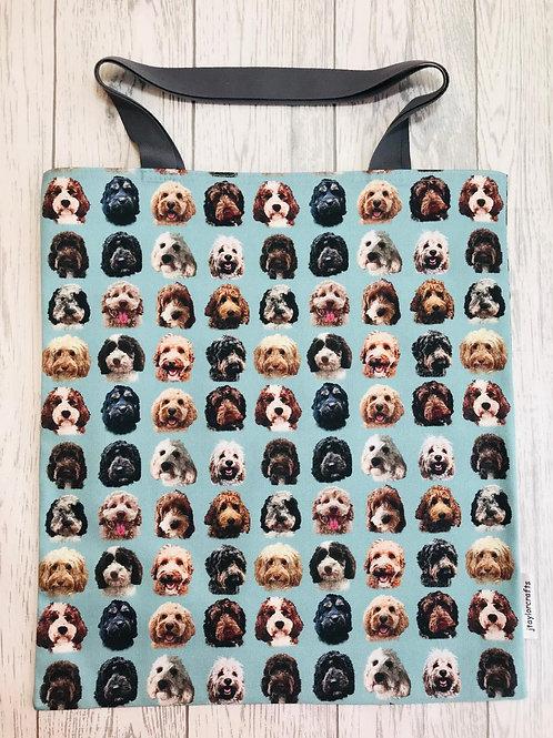 Cockapoo / Doodle Dog Print Bag for Life