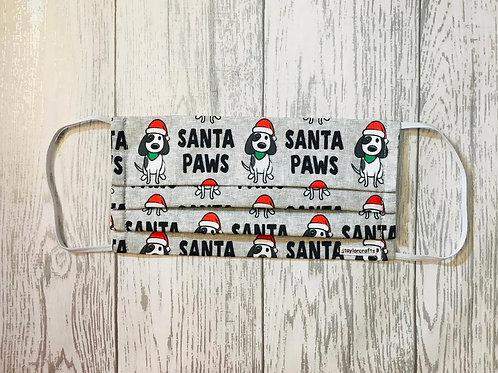 Santa Paws Pleated Face Mask