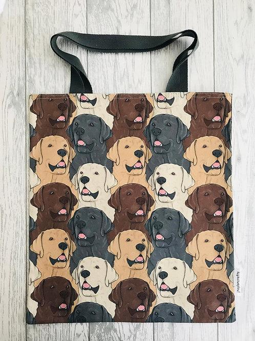 Labrador Dog Print Bag for Life
