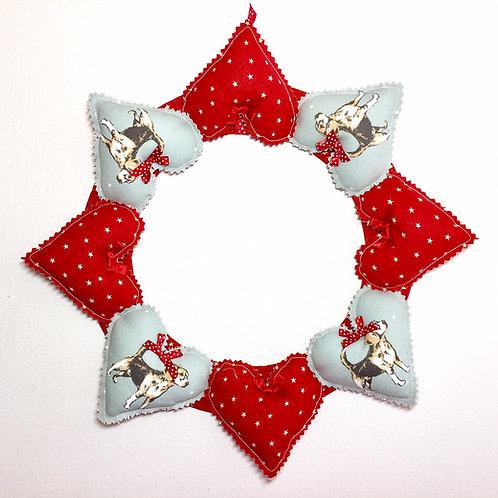 Beagle Decorative Heart Wreath