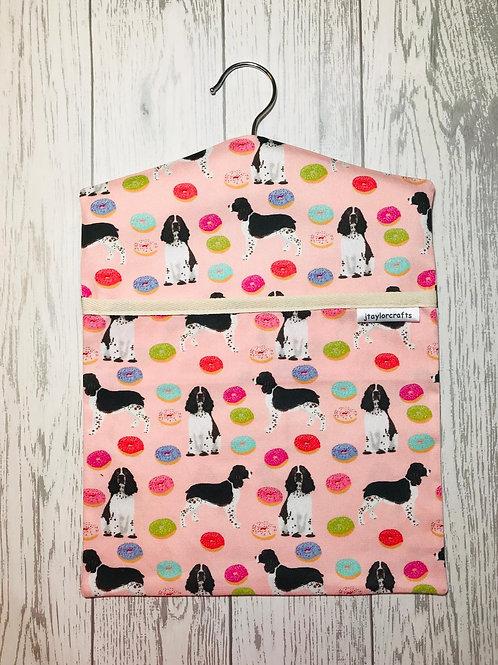 Springer Spaniel Pink Dog Peg Bag
