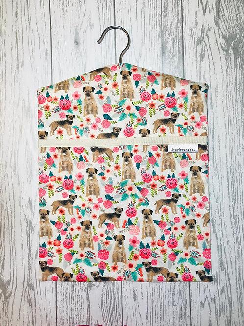 Border Terrier Floral Peg Bag