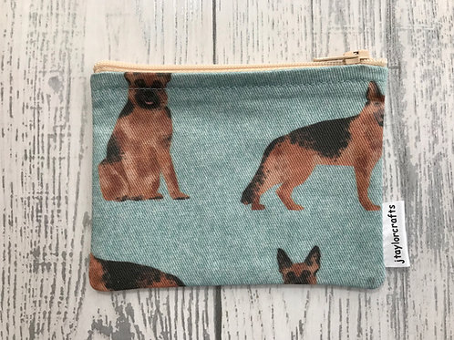 German Shepherd Dog Fabric Coin Purse