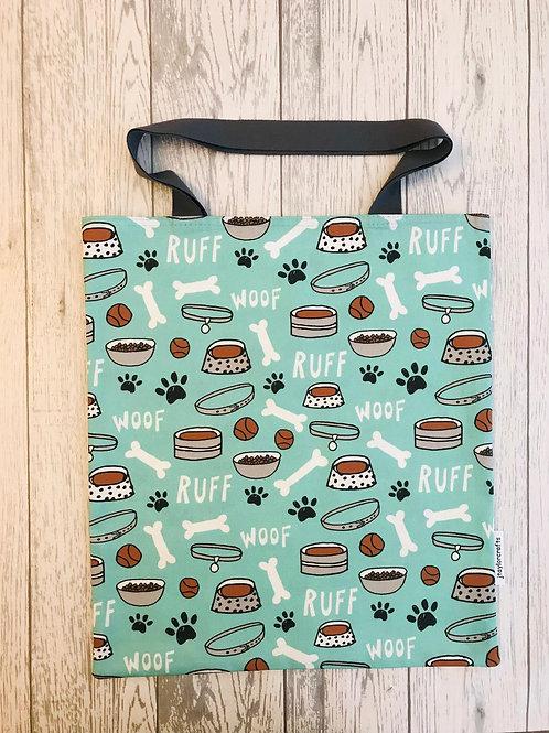 Dog Paw Print Bag for Life