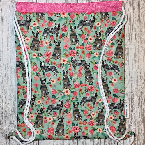Australian Cattle Dog Drawstring Backpack