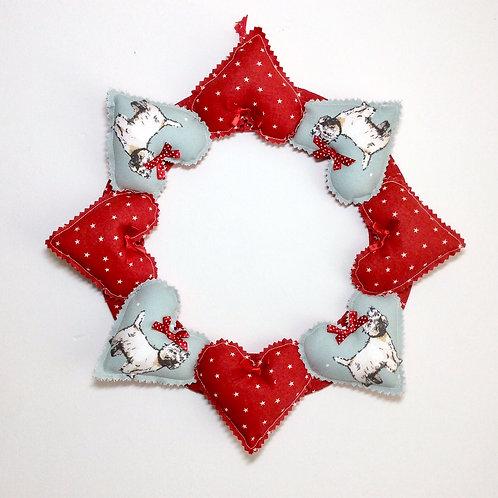 Westie Decorative Heart Wreath