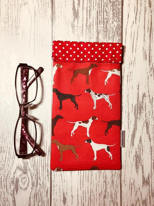 Red Pointer Glasses Case