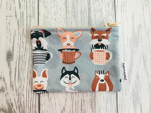 Latte Dogs Fabric Coin Purse