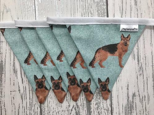 German Shepherd Dog Print Bunting