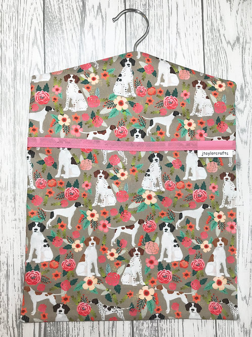 Floral Pointer Peg Bag