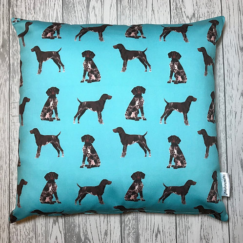 German Shorthaired Pointer Blue Cushion Cover