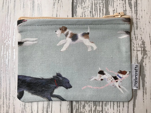 Running Dogs Fabric Coin Purse