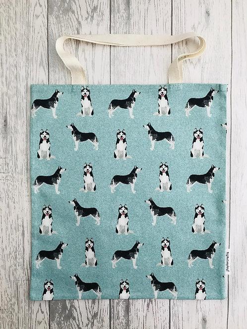 Husky Dog Print Bag for Life