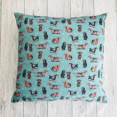 Dachshund Dog Print Cushion Cover