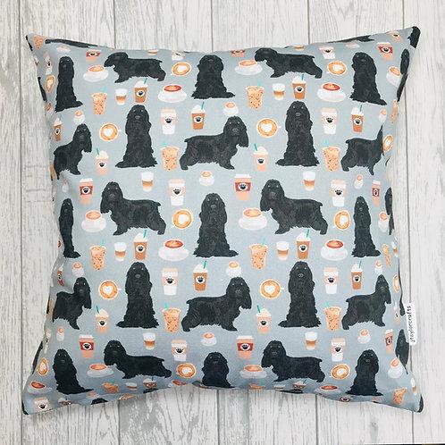 Grey Cocker Spaniel Cushion Cover