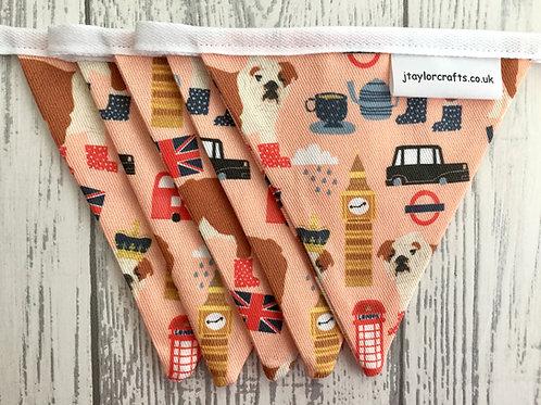 British Bulldog  Print Mini Bunting