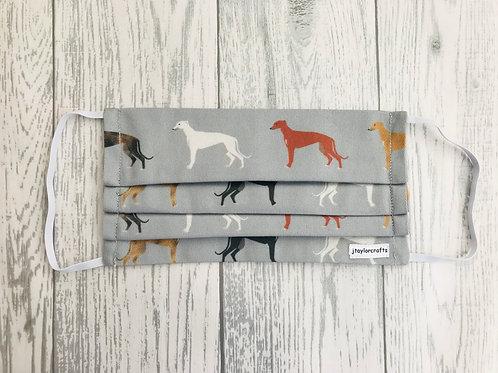 Greyhound Pleated Face Mask