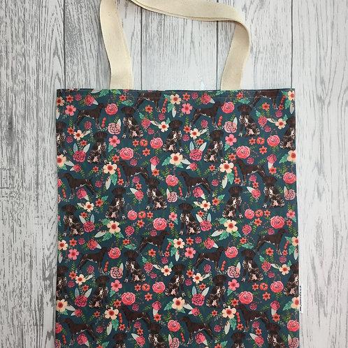 German Shorthaired Pointer Blue Floral Bag for Life