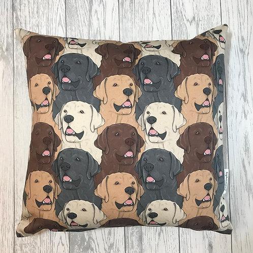 Labrador Dog Print Cushion Cover