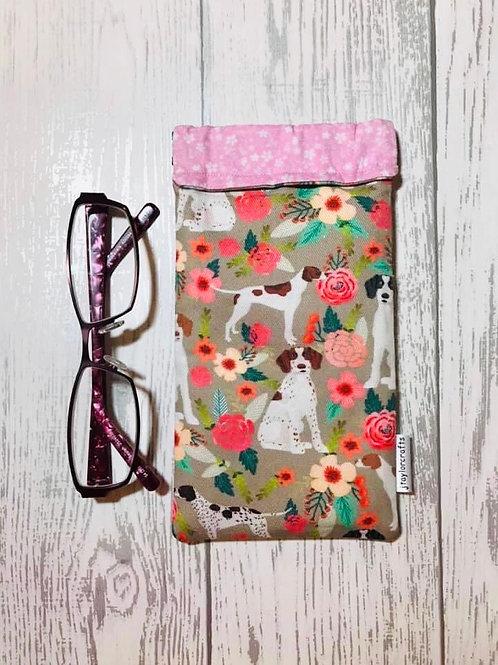 Floral Pointer Glasses Case