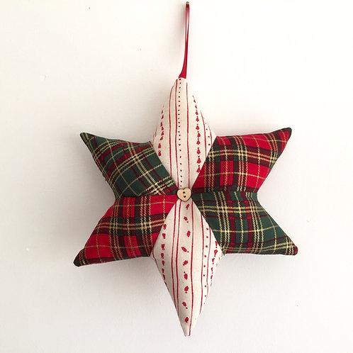 Tartan Christmas Star