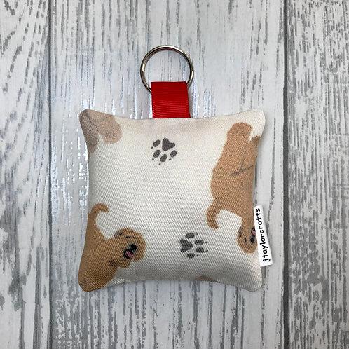 Wheaten Terrier Dog Print Keyring