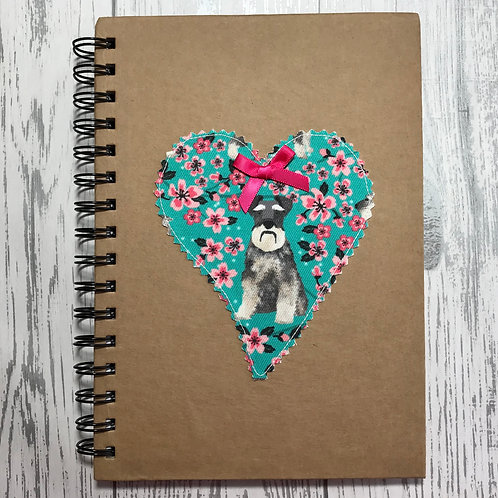 Floral Schnauzer Lined Notebook