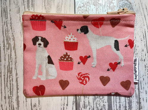Pointer Pink Fabric Coin Purse