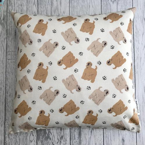 Wheaten Terrier Cream Cushion Cover
