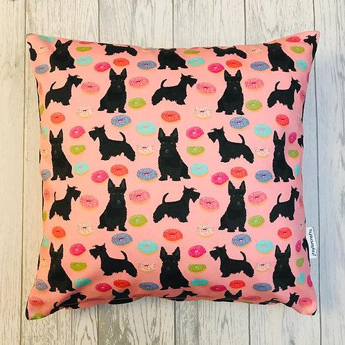 Scottish Terrier Print Cushion Cover
