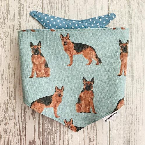 German Shepherd Dog Reversible Tie Bandana