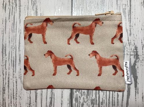 Irish Terrier Dog Fabric Coin Purse