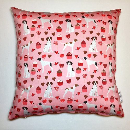 Pink Pointer Cushion Cover