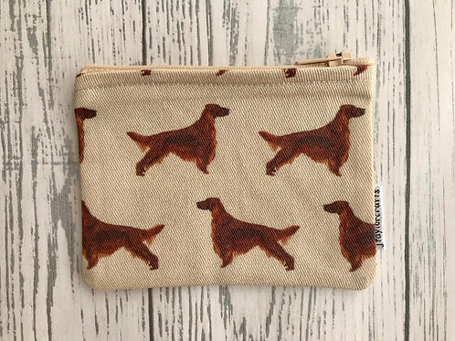 Irish Setter Fabric Coin Purse