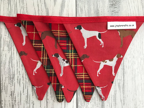 Red Pointer and Tartan Bunting