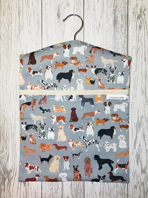 Grey Mixed Dogs Peg Bag
