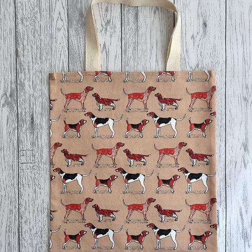 Hound Dog Print Bag for Life