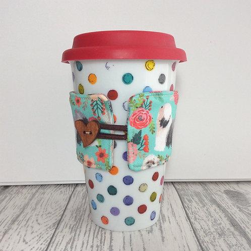 Blue Tibetan Terrier Print Cup Cozy