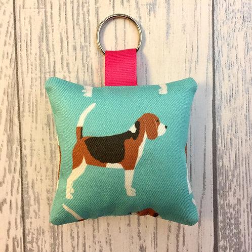 Beagle Print Keyring