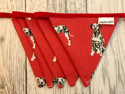 Red Dalmatian Dog Print Bunting