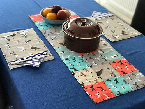 Multi-Coloured Pointer Fabric Table Runner
